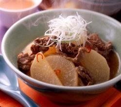 大根と牛肉の韓国風スープ煮出来上がり図
