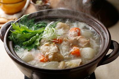 あっさり鶏のスープ鍋出来上がり図