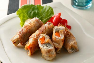 豚肉と野菜の味噌ロール出来上がり図