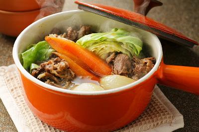 牛肉とキャベツのお総菜煮出来上がり図
