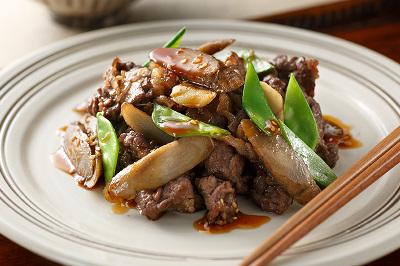新ごぼうと牛肉のお惣菜炒め出来上がり図