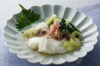 白身魚の冷やし鉢出来上がり図